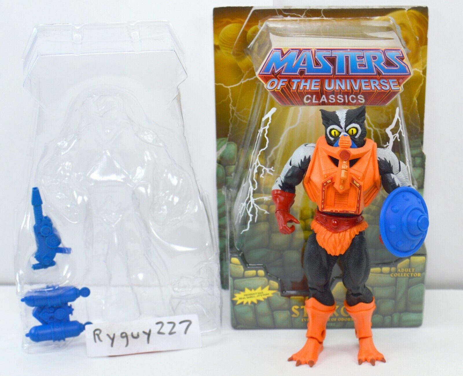 Motuc, Stinkor, figura, amos del universo clásicos He-man, Caja, Escudo
