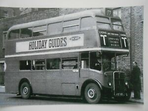 Details about LONDON TRANSPORT BUS - RT 8 (FXT 183) -- ON ROUTE 177 TO  ABBEY ROAD GARAGE