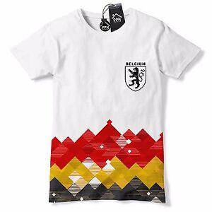 333c63720b7 Image is loading Belgium-Football-Shirt-Retro-Pattern-Belgique-T-Shirt-