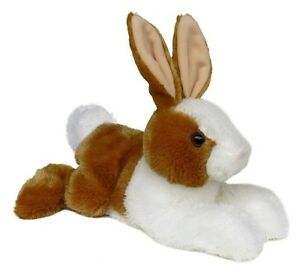 "12"" Brown and White Rabbit Easter Bunny Aurora Plush Stuffed Animal Toy"