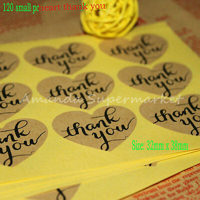 Hot ! sticker Handmade Kraft Self-adhesive for Wedding Gift Party label Sticker
