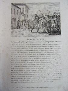 Vente Pas Cher J.b.w Poquet Capitaine De La 40e Compagnie De Vétérans, Né En 1745 Lustre Brillant