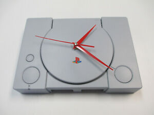 Sony-Playstation-One-PS1-Wall-Clock-Man-Cave-Gift-Retro-Console-Time-Piece-PSX