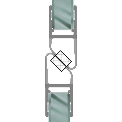 Magnetdichtung 180° Magnet Duschdichtungen Duschtüre Dusche Glas 6-8mm 1 Set