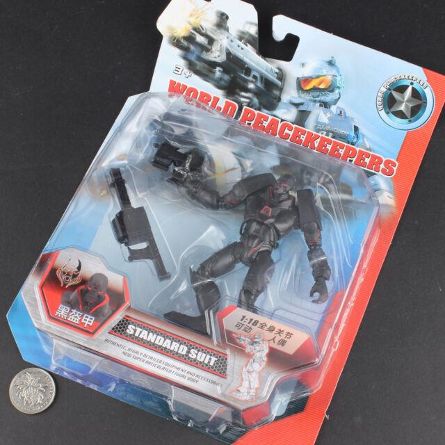 World Peacekeepers BLACK ARMOR 1/18 Action Figure