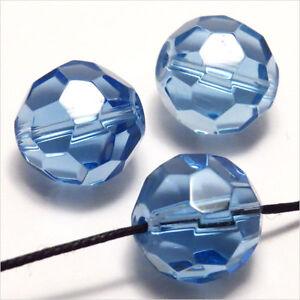 Lot de 10 perles à FACETTES 10mm en Cristal de Bohème Rouge