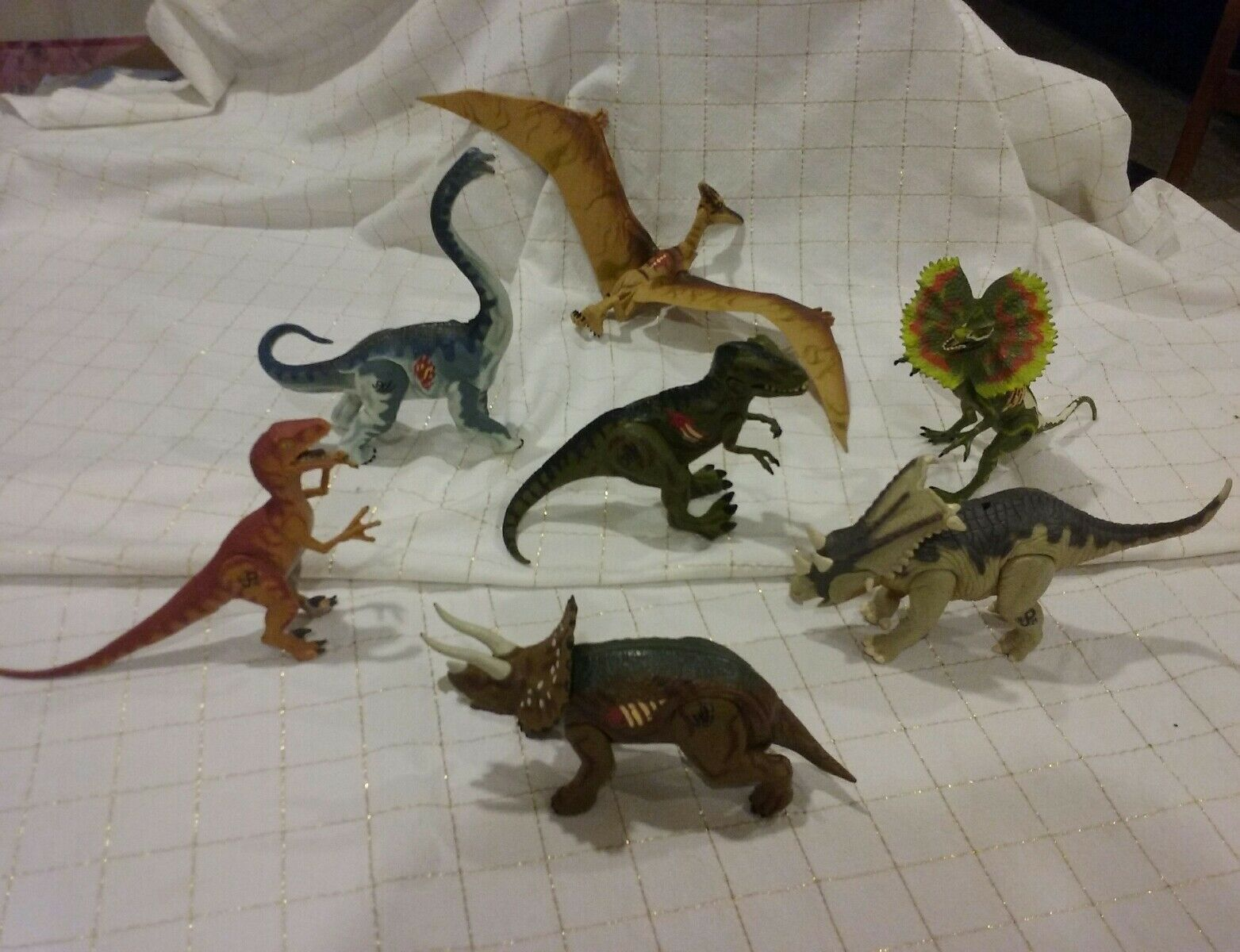 Jurassic Park 3 Re-Ak A-Tak Electronic Dinosaur Lot of 7