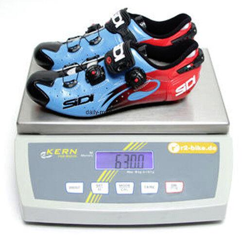 New SIDI WIRE Carbon Road Bike Cycling Shoes Blue Sky Black Red EU38-44.5
