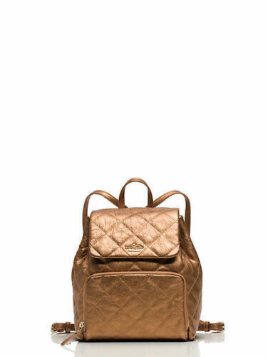 428 Emerson Place Neko auténtica Spade Leather Kate Nueva Backpack Antique y Gold wXqIPq4