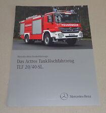 Prospekt / Werbung Mercedes - Benz LKW Actros Tanklöschfahrzeug TLF 20 / 40-SL