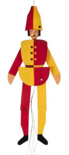 Hampelmann Harlekin NEU Erzgebirge Mobile Spielzeug Ziehfigur Schwingfigur Holz
