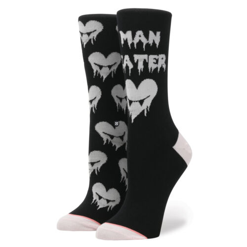 STANCE SOCKS NEW Women/'s Black Stance Hangry Black BNWT