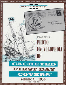 Mellone-039-s-Planty-Photo-Encyclopedia-of-Cacheted-FDCs-Volume-X-1936-issues-NEW