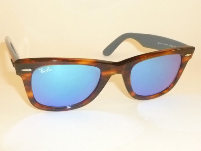 3a65423099 New RAY BAN Original WAYFARER Sunglasses RB 2140 1176 17 Blue Mirror Lenses  50mm