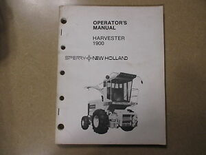 new holland 1900 forage harvester service repair manual ebay rh ebay com Combine Harvester New Holland Tractor Packages