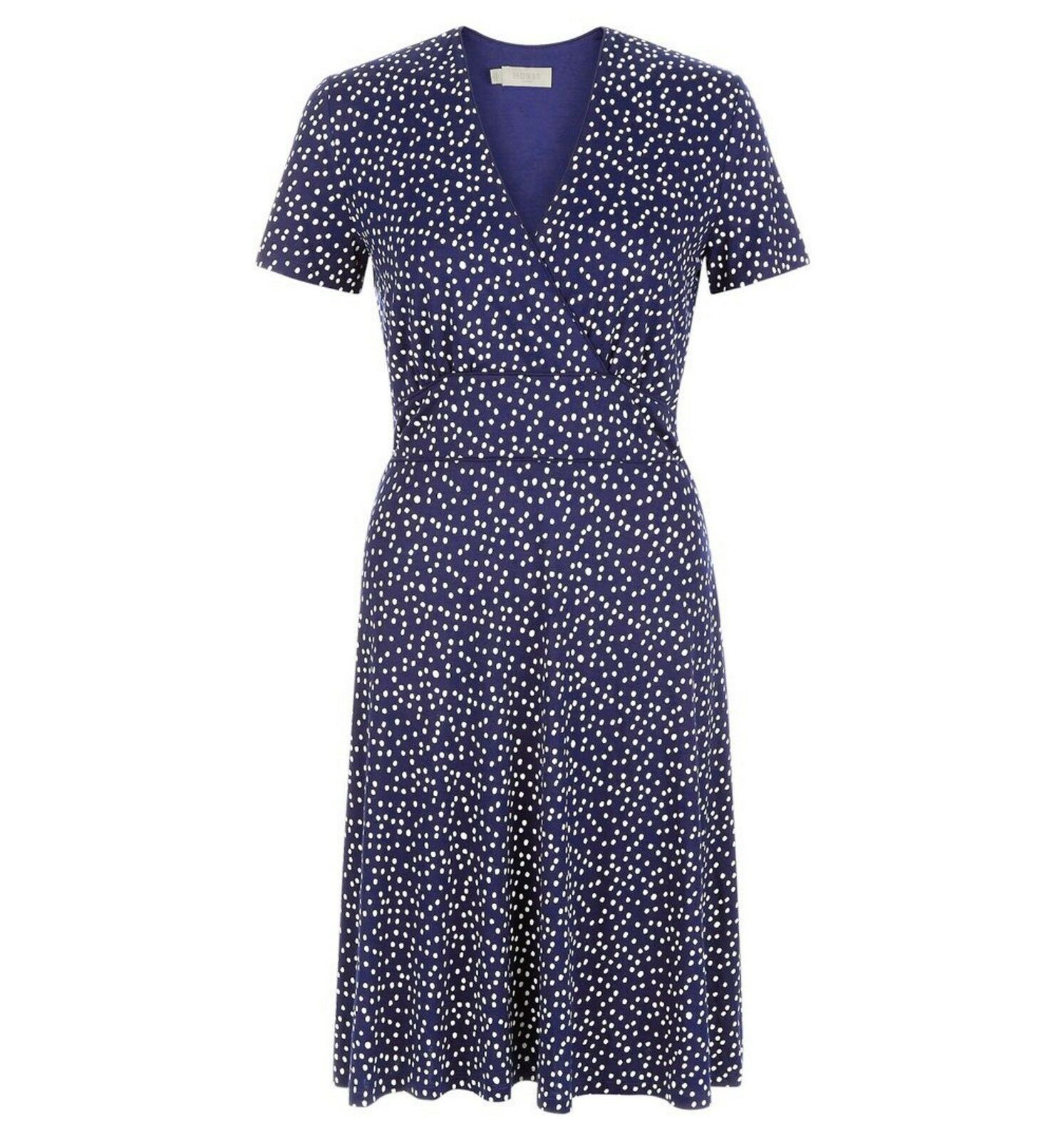 HOBBS - Darcie Dress - French Navy White - U.K. 14 - Brand New With Tags