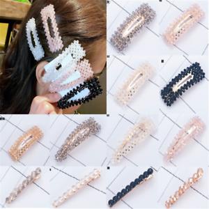 Crystal Bead Hair Clip Hairband Comb Bobby Pin Barrette Hairpin Headdress Newly