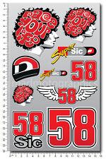 Marco Simoncelli 58 Aufkleber set Laminiert stickers MotoGP Race Life Super Sic