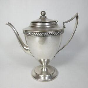 R189-ANTICA-TEIERA-CAFFETTIERA-INGLESE-SILVERPLATE-EPNS-ART-DECO-DECo-VINTAGE