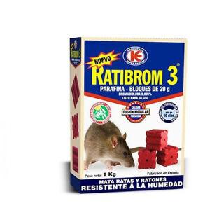 rodenticide ratibrom 3 1kg poison pour des rats et souris. Black Bedroom Furniture Sets. Home Design Ideas