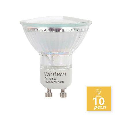 Set 10 Lampadine GU10 5W A LED con 60 Luci 5 Watt Lampada Spot per Faretti