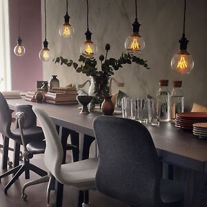 ikea nittio vintage retro 39 filament 39 edison style warm glow led bulb e27 e14 ebay. Black Bedroom Furniture Sets. Home Design Ideas