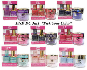 Dnd Dc 3in1 Gel Polish Dipping Powder Pick Your Color Gel Dip Powder 3pc Ebay