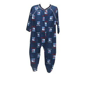 sports shoes 00f57 25ba6 Details about New York Rangers Official NHL Apparel Baby Infant Size Pajama  Sleeper Bodysuit
