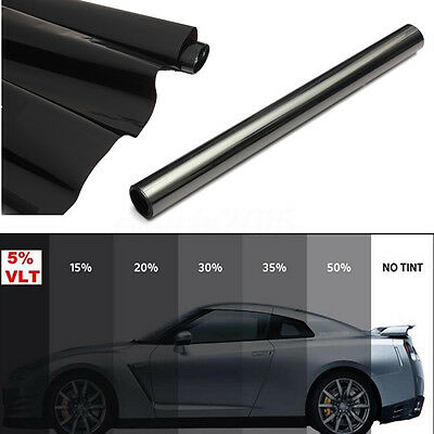 Window Tint Film 5% Limo Tinting Car 2 PLY Glass Home Office DIY 50cm x 6m