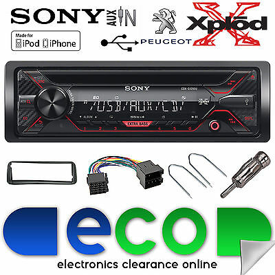 Peugeot 308 Sony CDX-G1200U CD MP3 USB AUX-in Ipod Iphone Coche Radio Stereo Kit