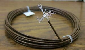 10-feet-24-AWG-Brown-Shielded-Silver-Plated-PTFE-Wire-Coax-SPC