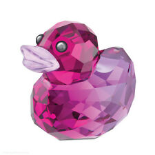 SWAROVSKI CRISTALLO PAPERA CRYSTAL HAPPY DUCK LOVABLE LILA 1041292 ORIGINALE