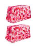 Set X 2 Macy's Women Cosmetic Makeup Case Bag Purse Pouch Handbag .