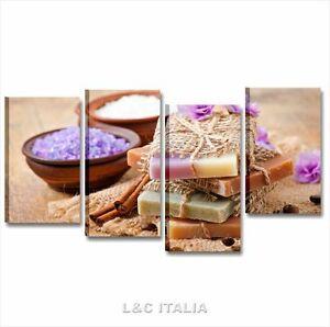 Benessere zen sapone quadri moderni 152x78 cm stampe tela - Stampe per bagno ...