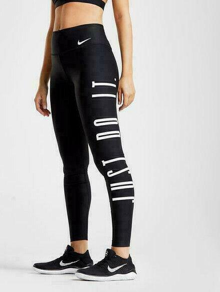 Nike Power Sieg Just Do It Enge Passform Damen Lauf Training Fitness Strumpfhose