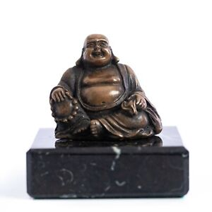 SûR Bronze Bouddha Sur Un Solide Socle Marbre. Art Sculpture, Cadeau, Sculpture, Décoration.-afficher Le Titre D'origine Nombreux Dans La VariéTé