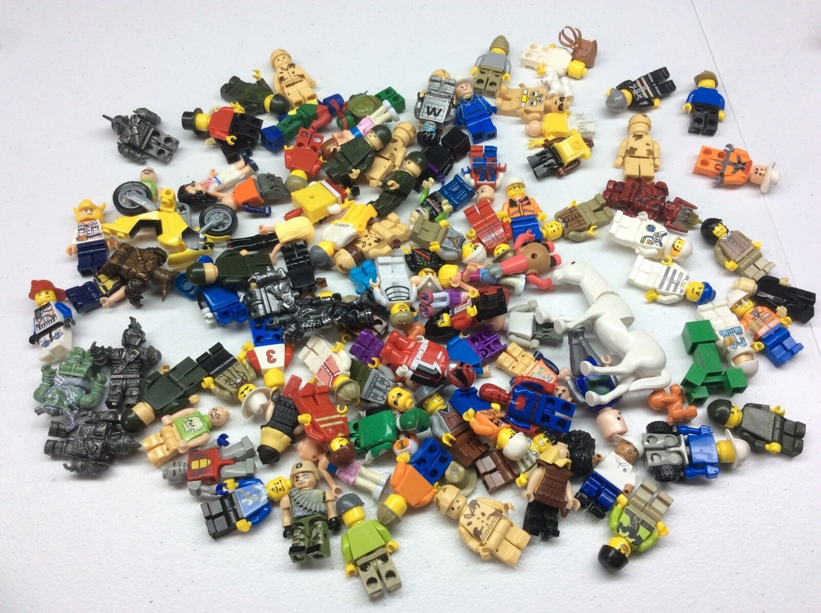 100 Non Lego Minifigures Megablok Heroes minifig lot K476B K476B K476B f91164