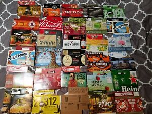 Lot-of-12-Random-Assorted-6-Pack-Craft-Beer-Cardboard-Cartons-Holders-Carriers