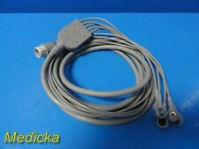 Hp Philips M1734a One Piece Ecgekg Cable 5 Leads Snap Aha 23529