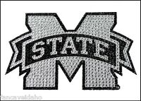 Ncaa Mississippi State Black & Silver Rhinestone Bling Emblem Car Sticker Decal