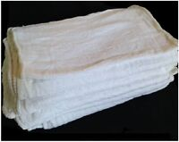1250 Industrial Shop Rags / Cleaning Towels White Large 13x14 Ga Towel Brand on sale