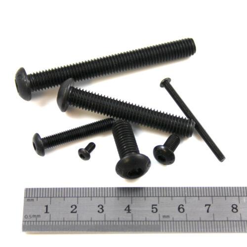 M3 Negro Acero de grado 10.9 6 Mm-Tornillos de máquina de Cabeza De Botón Hexagonal de 35 mm