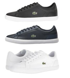 Lacoste-Lerond-BL-1-Men-039-s-Casual-Leather-Loafer-Shoes-Sneakers-Black-Blue-White