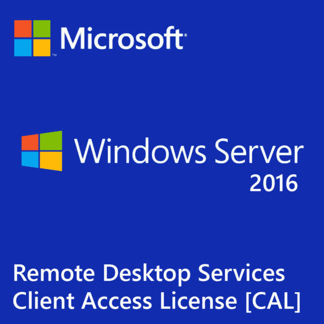 Microsoft Windows Server 2016 Remote Desktop Services RDS 50 Device Cal  License