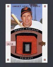 2005 Sweet Spot Classic Brooks Robinson Jumbo Patch #14/50 Orioles