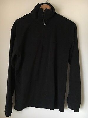 "Clothing, Shoes & Accessories Trespass Black Size 38"" Black Polyester Fleece Top <t8981 Men's Clothing"