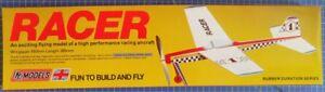 Racer: DPR Rubber Powered Racer Balsa Wood Model Plane Kit Wingspan 450mm
