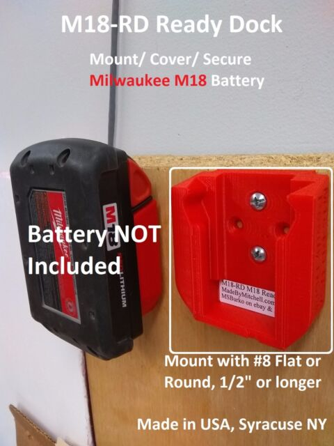 M18 Ready Dock, Cover, Mount, Store Milwaukee Battery, USA