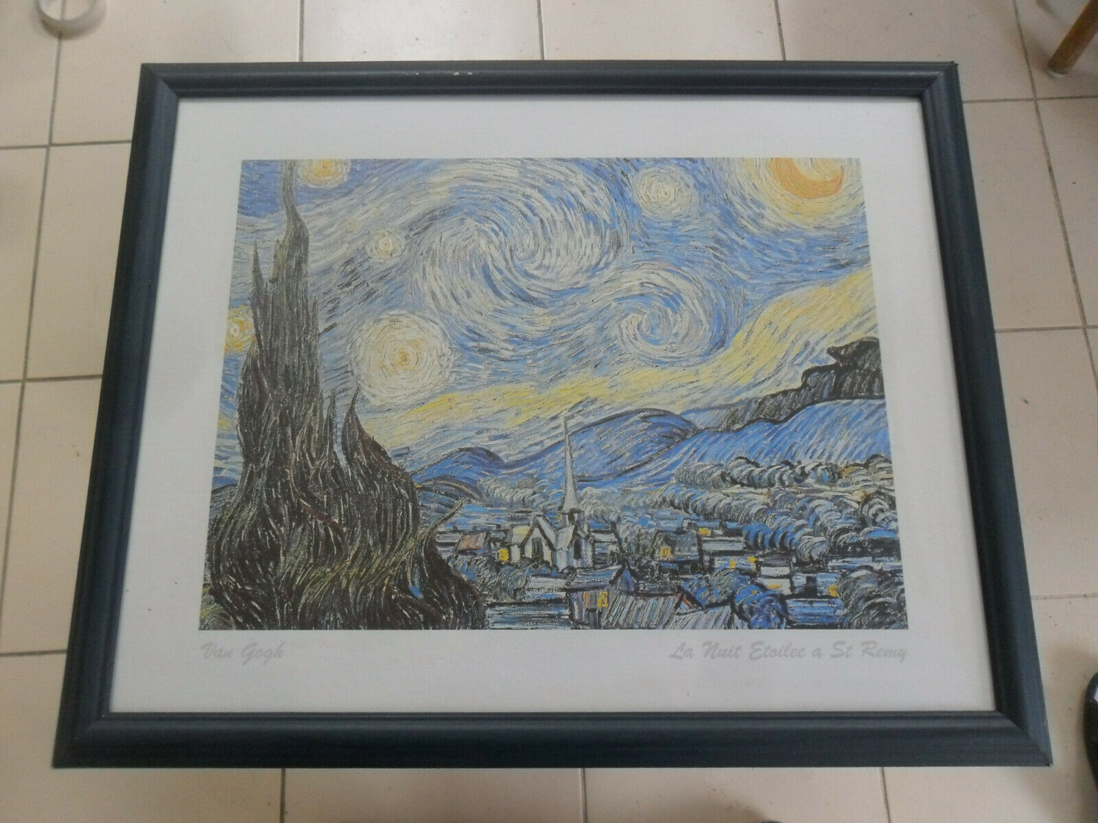 Framed Print Picture Vincent Van Gogh Painting La Nuit Etoilee Starry Night
