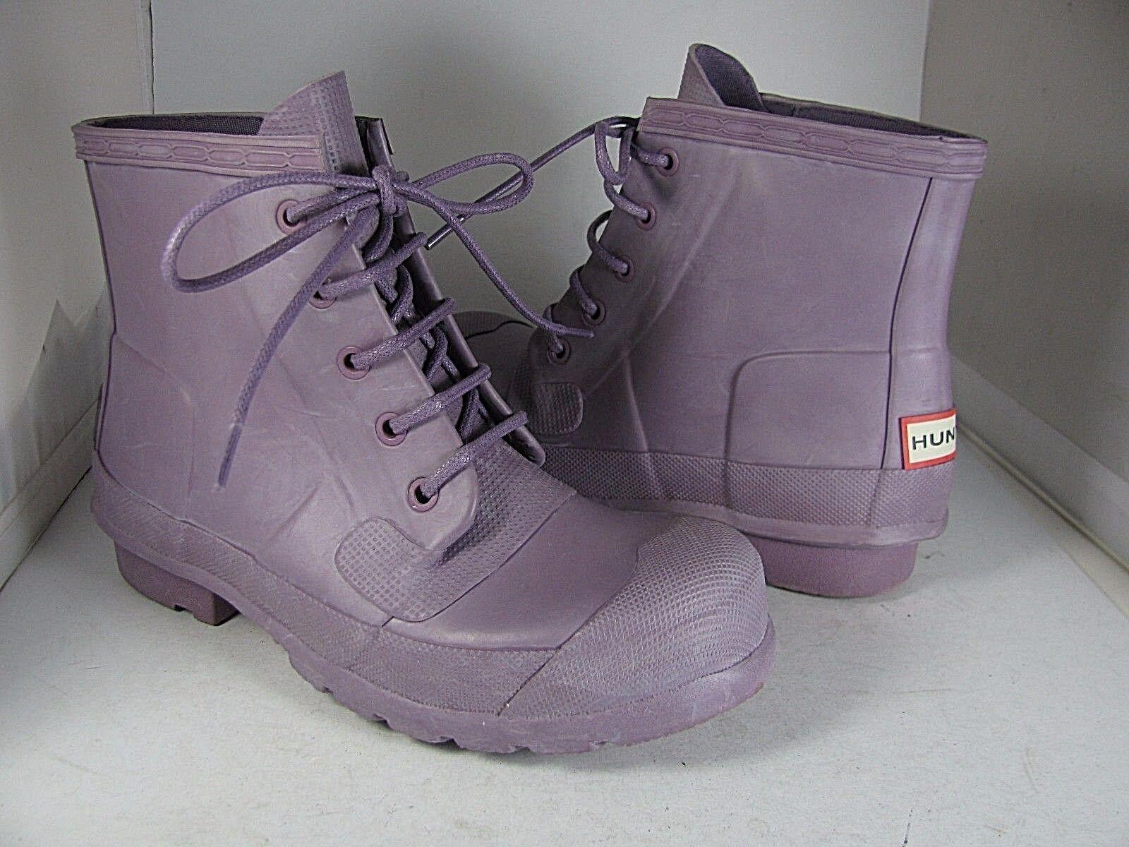 Sz 6/ 37 floor pair HUNTER rain lilac Stiefel Original Lace Up purple/ lilac rain short 0eabd1